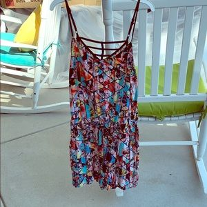 Colorful geometric romper! Worn once!